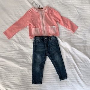 Toddler girl 7 for all Mankind Jeans & cardigan
